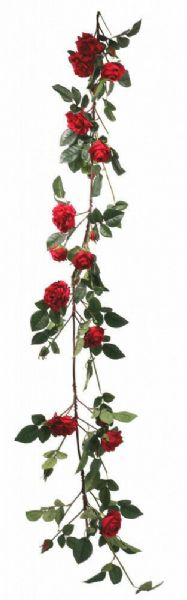 Luxury Red Rose Garland 1.8m